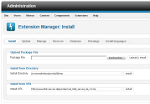 Joomla! 2.5 Extension Manager